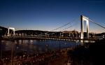 Erzsebet bridge on August 20th